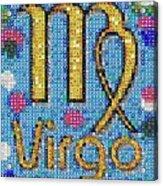 Virgo Zodiac Mosaic Acrylic Print