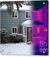 Visible And Infrared Image Of A House Acrylic Print