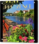 Visit Provence Poster Acrylic Print