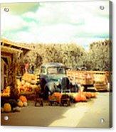Visit The Pumpkin Patch Acrylic Print