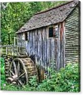 Visiting The Old Mill Acrylic Print