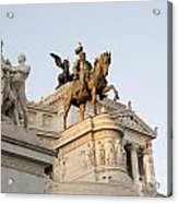 Vittoriano. Monument To Victor Emmanuel II. Rome Acrylic Print