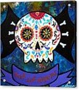 Viva Los Muertos Bat Acrylic Print