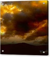 Vivachas Golden Hour Sunset Glowing Clouds  Acrylic Print