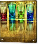 Vodka Glasses Acrylic Print by Svetlana Sewell