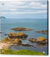 Volcanic Rock Formations In Ballintoy Bay Acrylic Print