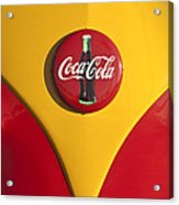 Volkswagen Vw Bus Coco Cola Emblem Acrylic Print