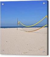 Volleyball Net On Beach Acrylic Print