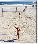 Volleyball On The Beach  Acrylic Print