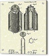 Voltaic Battery 1887 Patent Art Acrylic Print