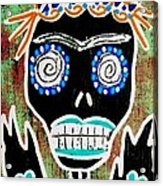 Voodoo Queen Sugar Skull Angel Acrylic Print