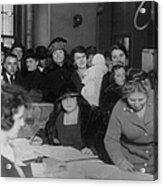 Voting Poll, 1922 Acrylic Print