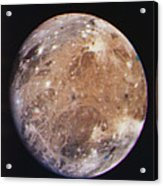Voyager I Photo Of Ganymede, Jupiter's Third Moon Acrylic Print