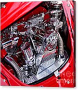 Vw Beetle With Chrome Engine Acrylic Print by Kaye Menner