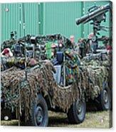 Vw Iltis Jeeps Of A Recce Scout Unit Acrylic Print by Luc De Jaeger
