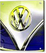 Vw Variations In Blue Acrylic Print