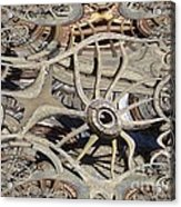 Wagon Wheel Fractal Acrylic Print