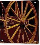 Wagon Wheel In Sepia Acrylic Print