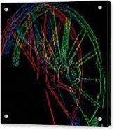 Wagon Wheels In Wheels Acrylic Print