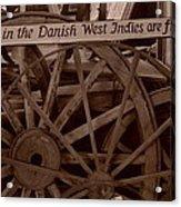 Wagon Wheels Of St. Croix Acrylic Print by Dennis Stein