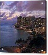 Waikiki At Night Acrylic Print