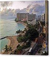 Waikiki At Twilight Acrylic Print