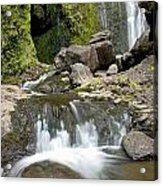 Wailua Falls And Rocks Acrylic Print