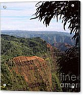 Waimea Canyon And Marshes Acrylic Print