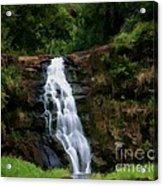 Waimea Valley Falls Acrylic Print