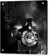 Waiting For More Coal Black And White Acrylic Print