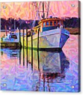 Waiting In The Harbor Acrylic Print