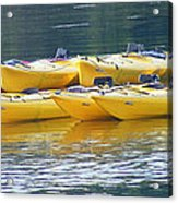 Waiting Kayaks Acrylic Print