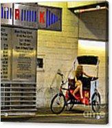 Waiting On A Ride Acrylic Print