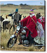 Walk Through The Highlands. Republic Of Bolivia.  Acrylic Print