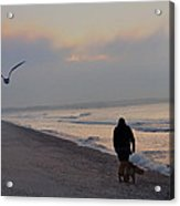 Walking On The Beach - Cape May Acrylic Print