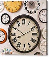 Wall Clocks Acrylic Print