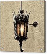 Wall Lamp Umber Sepia Acrylic Print