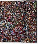 Wall Of Gum Acrylic Print