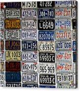 Wall Of License Plates Acrylic Print