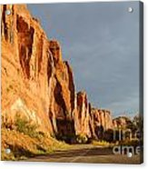 Wall Street Cliff Near Moab Acrylic Print by Gary Whitton