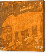 Wall Street Cliffs Petroglyph - Moab Acrylic Print
