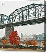 Walnut Street Bridge Acrylic Print by Tom and Pat Cory