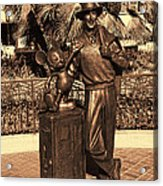 Walt And Mickey California Adventure Acrylic Print
