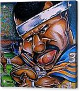 Walter Payton Acrylic Print by Big Mike Roate