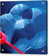 Wand Making Bubbles Acrylic Print by Garry Gay