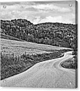 Wandering In West Virginia Monochrome Acrylic Print