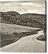 Wandering In West Virginia Sepia Acrylic Print