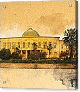War In Iraq Sadaam's Palace Acrylic Print by Jeff Steed