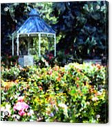 War Memorial Rose Garden 1  Acrylic Print