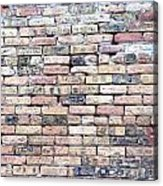 Warehouse Brick Wall Acrylic Print